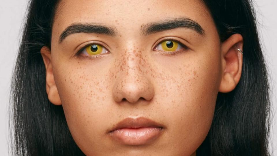 iconic yellow cosplay sarı parti lensi